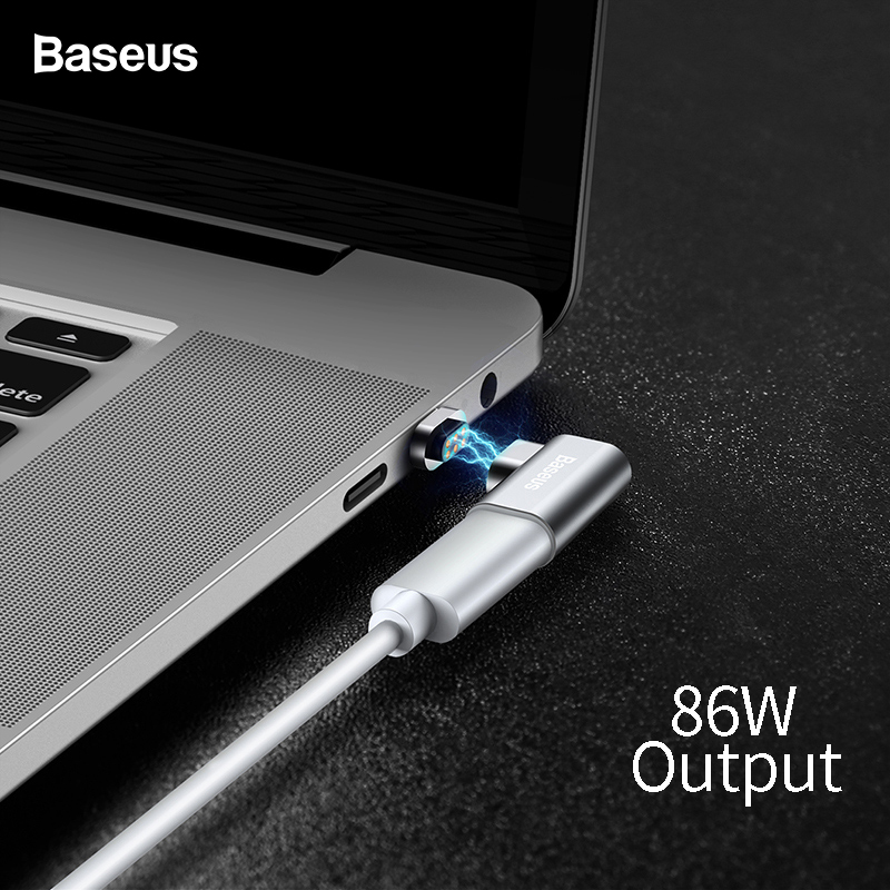 Baseus 86W USB C Cable To Type-C Magnetic Adapter For Macbook Huawei Mate 20 Pro OnePlus 6 Fast Charging Magnet Type C Connector