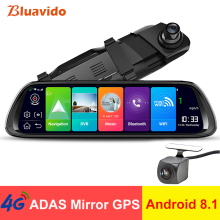 Bluavido 4G ADAS Android 8.1 dash Camera 10 IPS Car rearview mirror GPS FHD 1080P DVR night vision WiFi auto video recorder