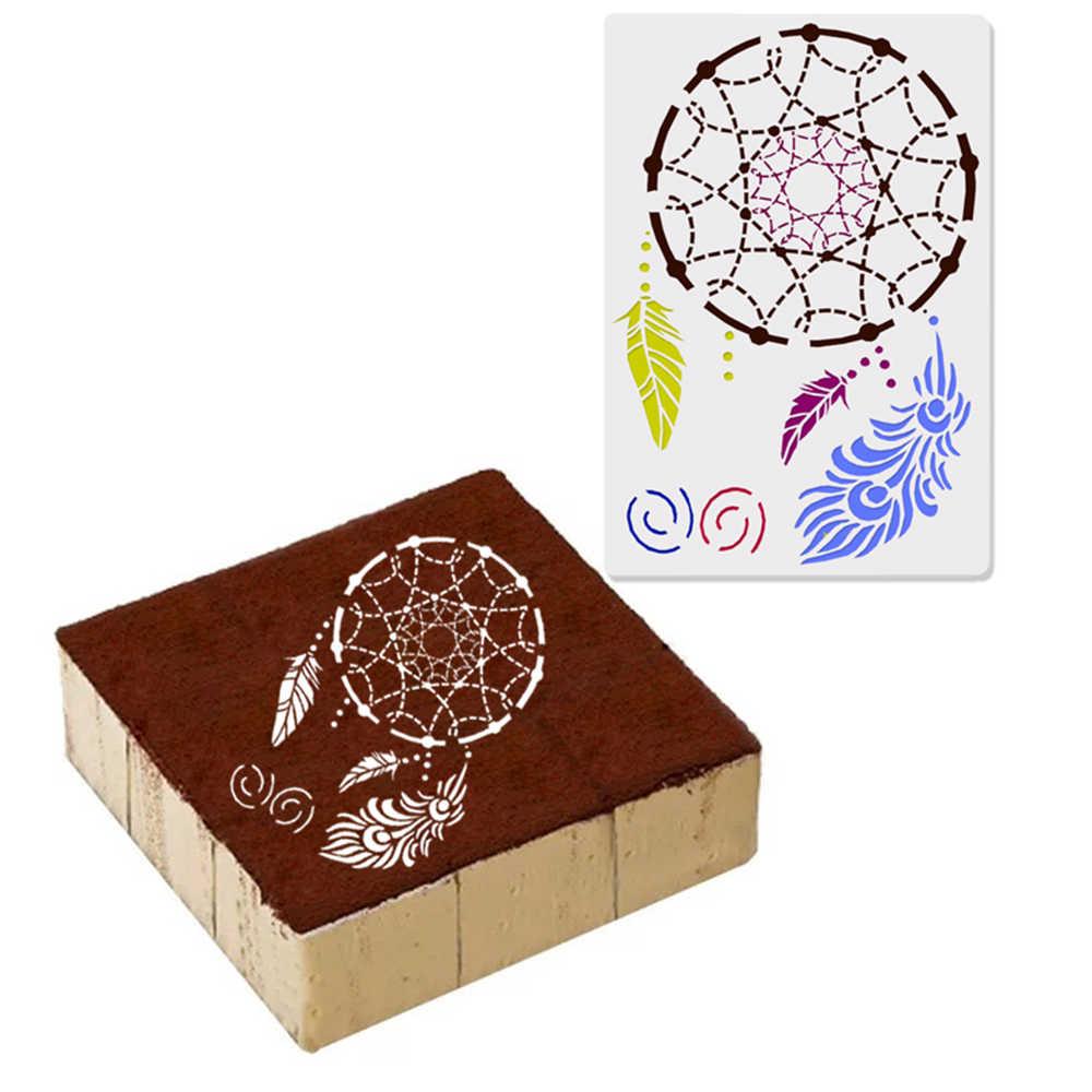 ベーカリーアクセサリー再利用可能なプラスチックケーキ噴霧型ボーダーステンシル DIY アートペイントドローテンプレートケーキベーキング装飾ツール