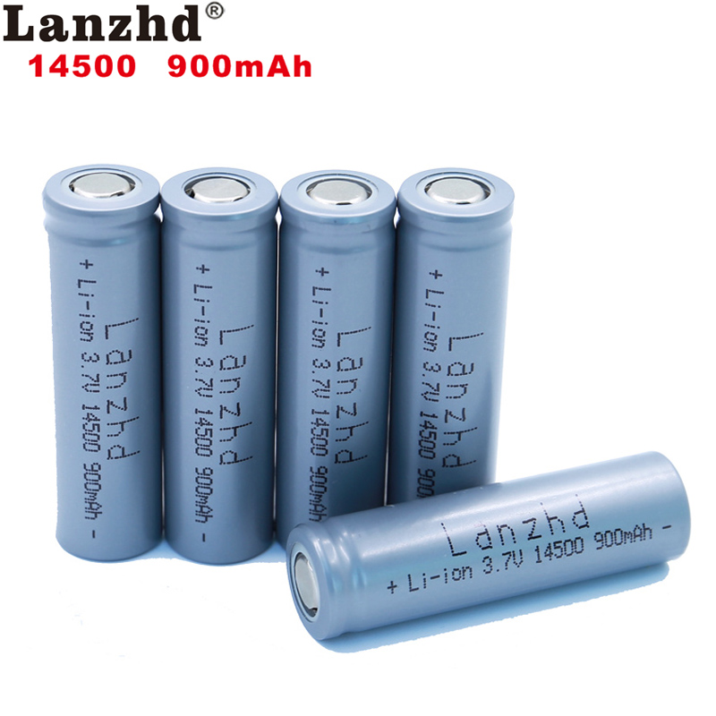 (1-24pcs)Lanzhd <font><b>14500</b></font> 900mAh <font><b>3.7V</b></font> Li-ion Rechargeable Batteries AA Battery Lithium Cell for Led Flashlight Headlamps Torch Mouse image