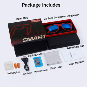 Image 5 - Bgreen condução óssea fone de ouvido bluetooth áudio inteligente polarizado óculos de sol vidro com bluetooth correndo fone de ouvido caminhadas