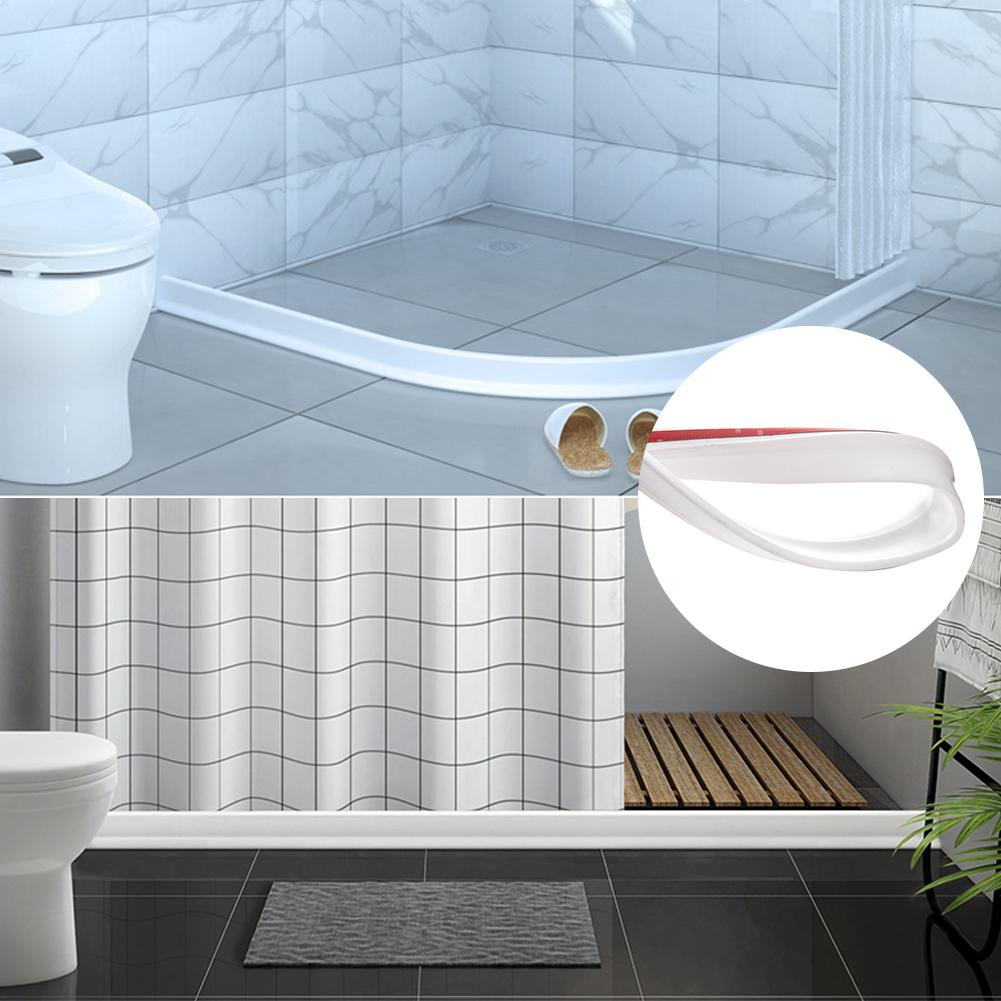 Threshold Water Dam Shower Barrier Water Stopper for Home Kitchen Bathroom