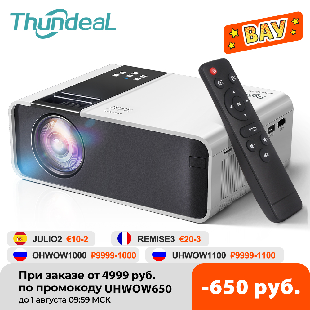 ThundeaL HD Mini Projector TD90 Native 1280 x 720P LED Android WiFi Projector Video Home Cinema 3D HDMI Movie Game Proyector LCD Projectors  - AliExpress