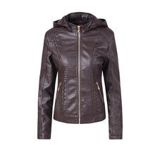 Women Faux PU Leather Jackets Zipper Motorcycle Coat Autumn Winter warm Outerwear mujer coat women