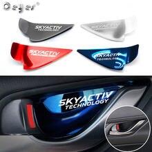 Наклейка на крышку автомобильной внутренней дверной ручки, чаши, отделки, наклейка на крышку для Mazda skyфитнес logo 3 6 Demio CX3 CX-5 CX5 CX 5 CX7 CX9 MX5 Axela ATENZA