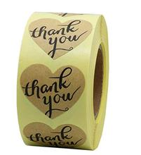 Thank you sticker seal label -Envelope fixed - Gift Box Restaurant Party -Self-adhesive detachable peeling