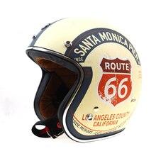 TORC Route 66 Motorcycle Helmet Jet DOT Vintage Scooter Helmets