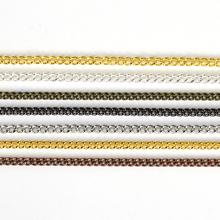 2 5 5 metrów wysokiej jakości łańcuch w kolorze złotym na naszyjnik bransoletka DIY Handmade ustalenia i elementy elementy do wyrobu biżuterii tanie tanio CN (pochodzenie) Łańcuchy chains findings 0 13cm 500cm Ocena biżuteria Metal iron JS005 Jewelry Findings Same as pictures show
