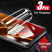 3pcs Screen Protector Hydrogel Film Oneplus 8 pro 7 7t Pro one plus 8 7 7t pro Protective Film For oneplus8 7t 7 pro Not Glass yuyaobaby white 7t