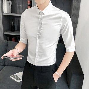 Image 2 - Блузка мужская приталенная с полурукавами, 3 цвета, 5 хl м