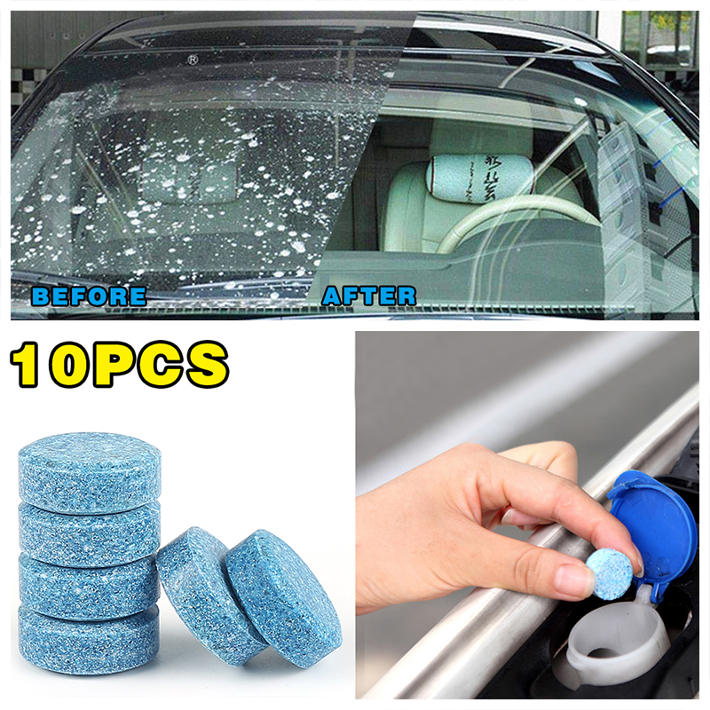 10PCS/Pack(1PCS=4L Water)Car Solid Wiper Fine Seminoma Wiper Auto Window Cleaning Car Windshield Glass Cleaner Car Accessories