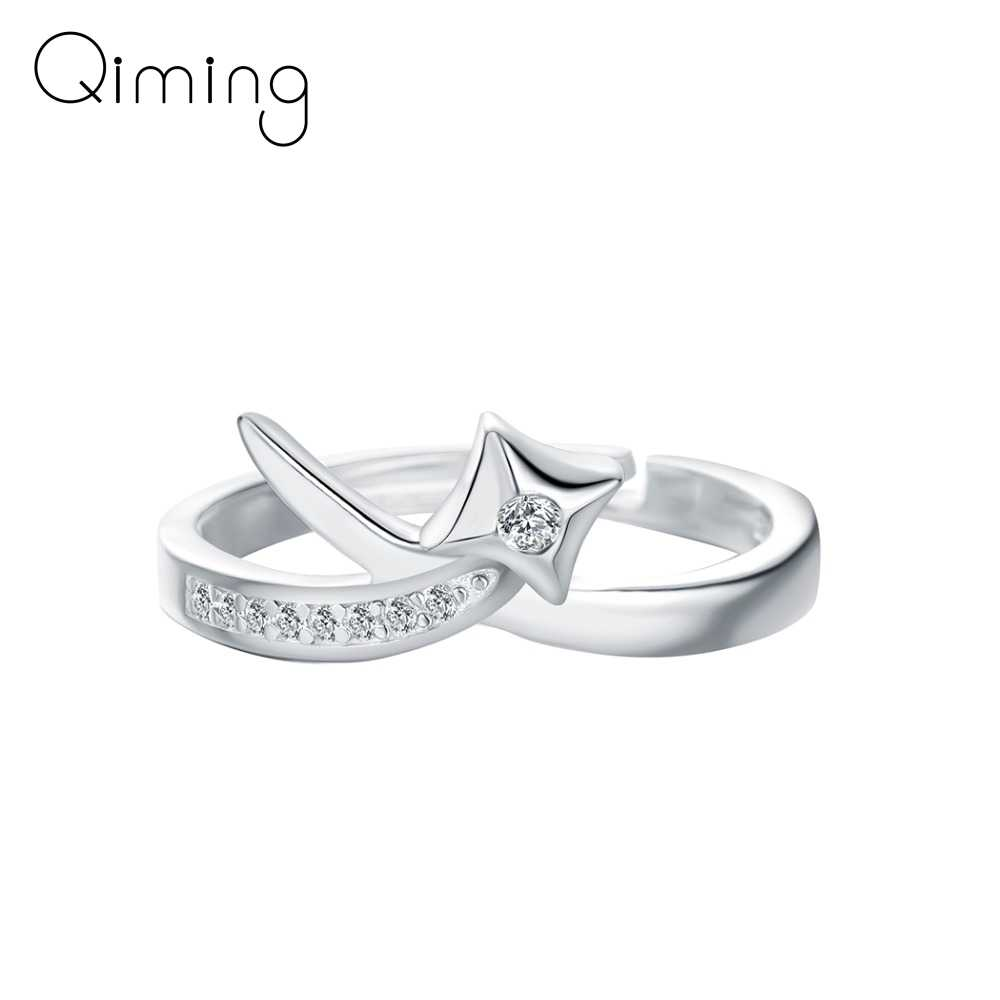 Модный Кристалл Циркон ЗВЕЗДА женский перстень девушки подарок на день рождения Рождественская вечеринка подарок на помолвку женские свадебные ювелирные кольца