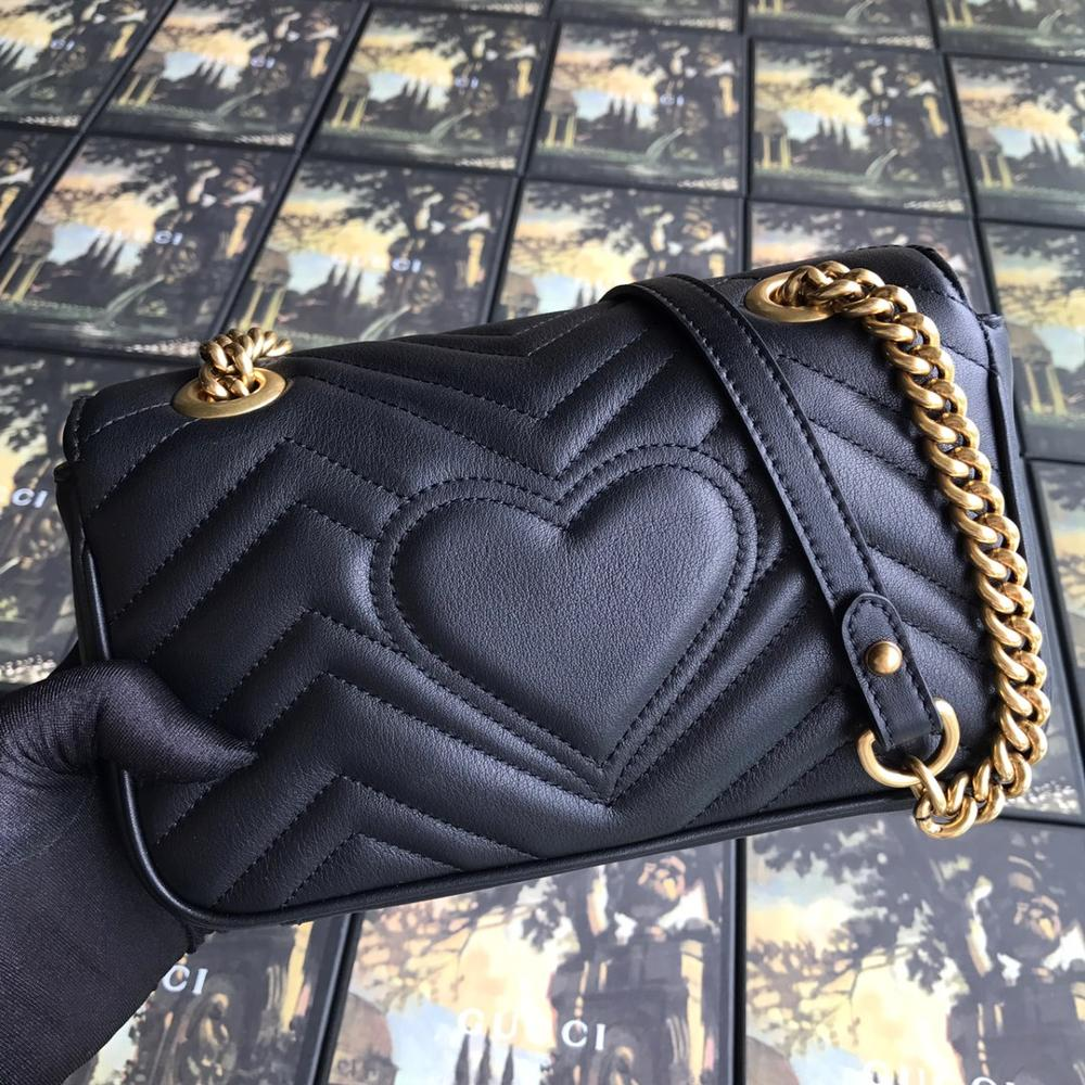 Ladies Cross Body Handbags Genuine Leather Top Quality Bags For Women 2020 Fashion Chains Gg Brand Single Bag Sac Main Femme