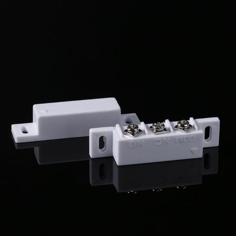NC NO Magnetic Contact Switch Door Sensor Wired Metal Roller Shutter Door Home Alarm System PXPA