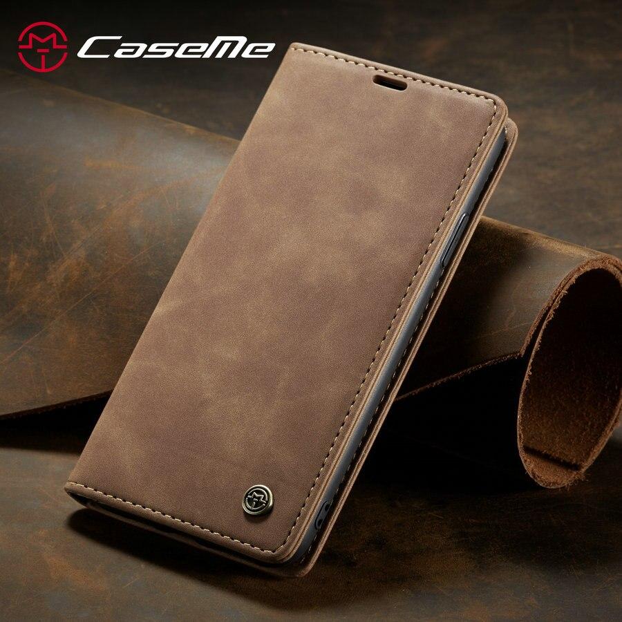 CaseMe Portefeuille D'origine En Cuir étui pour iphone 11 Pro Max Rétro Magnétique Carte de Crédit Porte-Monnaie étui pour iphone 11 6 7 8 Plus