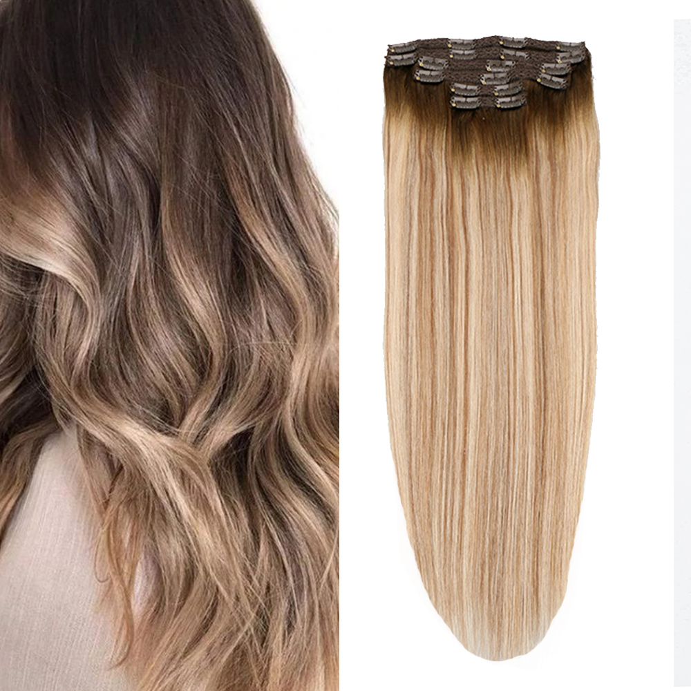 Toysww прямые человеческие волосы на заколках для наращивания Remy, 6 шт. в наборе, настоящие европейские натуральные волосы