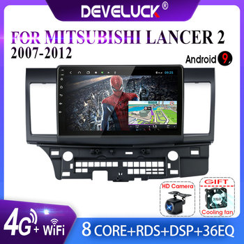 4G NET+WiFi Android9.0 2+32G Car Radio For Mitsubishi Lancer 2007-2012 10 Inch  RDS DSP Car Player  Video Audio Multimedia 2 Din vtopek 2din 2 32g 4g net wifi car multimedia player for mitsubishi lancer 2007 2012 navigation gps auto android radio 2 din dvd