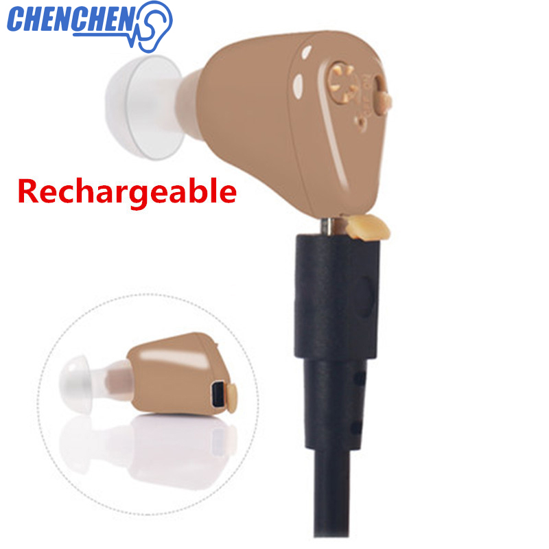 Rechargeable Hearing Aid for The Elderly Hearing Loss Sound Amplifier Ear Care Tools Adjustable Hearing Aids Audifono in Ear Care from Beauty Health