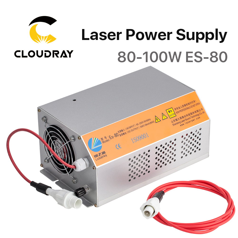 Cloudray 80 100W 80W HY Es80 CO2 Laser Power Supply for CO2 Laser Engraving Cutting Machine Es SeriesWoodworking Machinery Parts   -