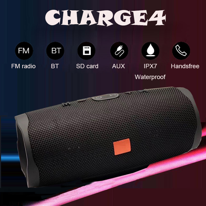 Bluetooth Speaker Subwoofer Soundbox Diaphragm-Stereo Charge4-Bass Waterproof IPX7 Portable title=