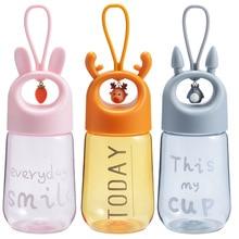 Water-Bottles Cartoon-Cover Plastic Embed-Life Bpa-Free Kids 480ml Design for Food-Grade