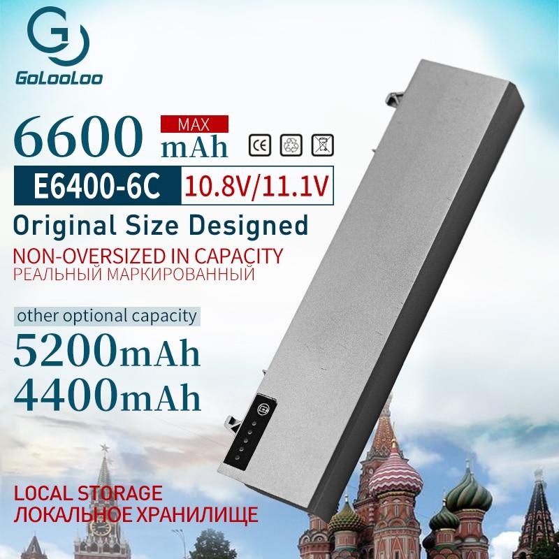 Bateria 4400mah 11.1v para Dell Latitude E6400 M2400 E6410 E6510 E6500 M4400 M4500 M6400 M6500 1M215 312- 0215 312-0748 312-0749