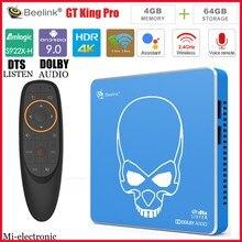 Beelink GT King pro S922X H 4 Гб ОЗУ 64 Гб ПЗУ Google Сертифицированный ТВ бокс Hi Fi Музыка Android 9,0 смарт ТВ приставка голосовой пульт
