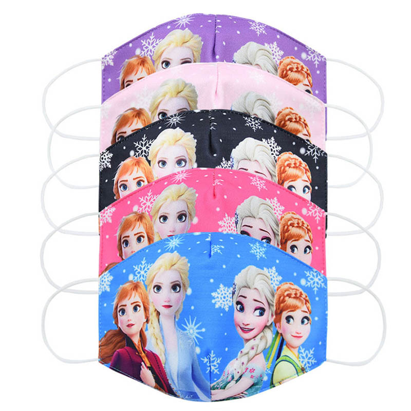 Elsa Mouth Face 2020 Washable Mask Kids Adult Cartoon Anti Dust Pollution Protection PM2.5 Reusable Cute Cotton Masks For Boys