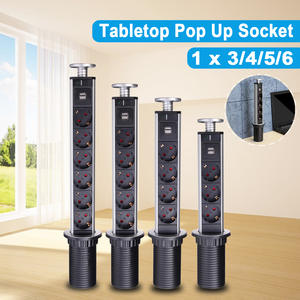 Usb-Charging-Port Sockets Eu-Plug Pull-Up Kitchen Table Desktop Countertops 16A 3/4/5/6-power