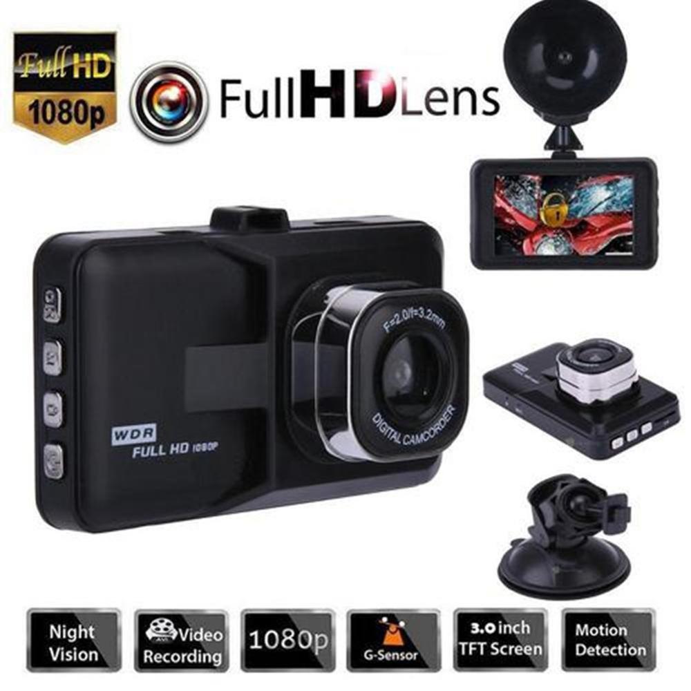 Enregistreur de conduite de voiture 3.0 pouces écran infrarouge Vision nocturne 120 degrés lentille Smart Dash caméra enregistreur de voiture