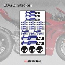 جديد دراجة نارية ملصقات الجسم عاكس للماء الجسم خزان الوقود شعار ملصق كيت ل BMW HP4 hp 4 تسجيل شارات H P 4