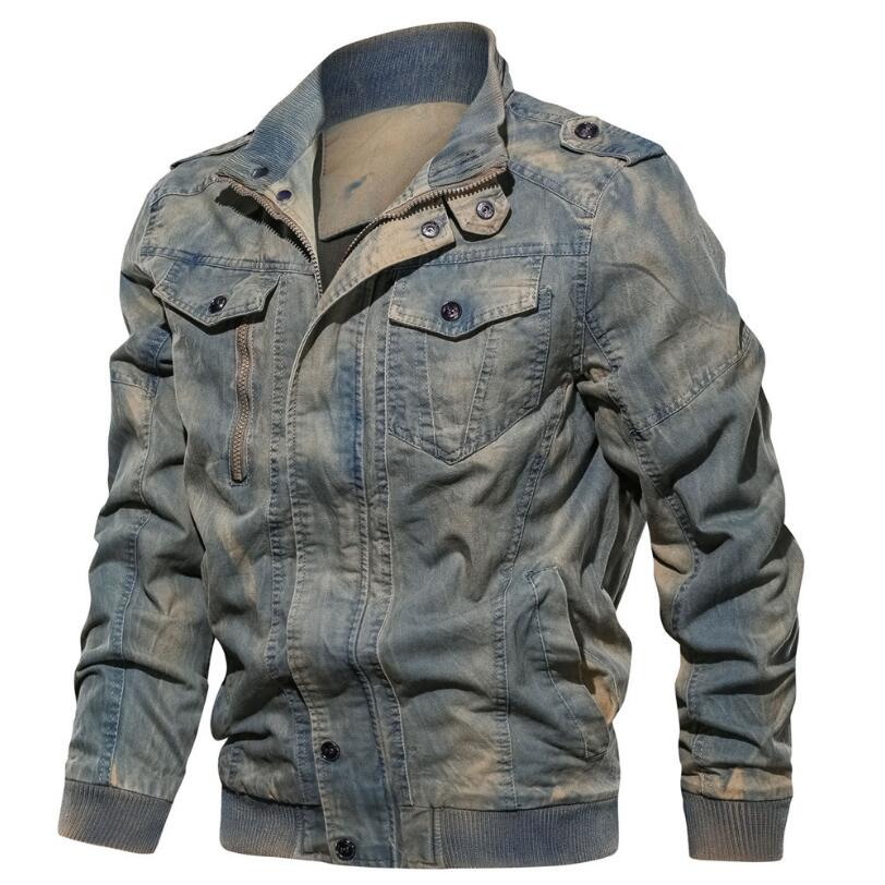 Mens Jackets and Coats New Men Spring Autumn Military Casual Jackets High Quality Men Cotton Large Size Slim Fit Jackets  6XL