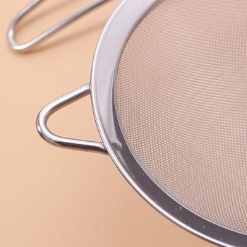 Stainless steel  Wire Fine Mesh Oil Strainer Flour Colander Sieve Sifter Pastry Baking Tools kitchen accessories 6