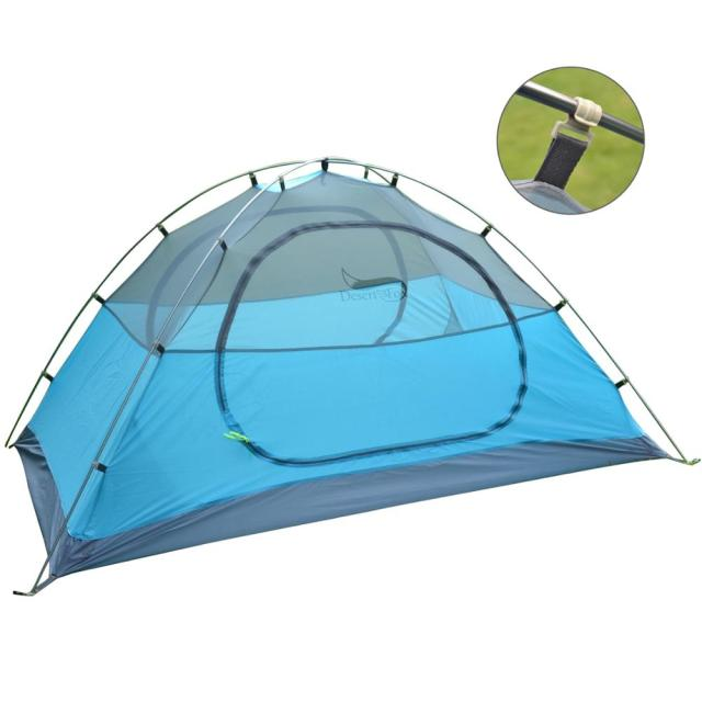 Desert&Fox Backpacking Camping Tent, Lightweight 1-3 Person Tent Double Layer Waterproof Portable Aluminum Poles Travel Tents 2