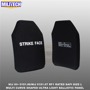 Image 3 - Ballistic Bulletproof Plate NIJ level 3+ NIJ 0101.07 RF1 SAPI Sized 2 PCs Ultra Light PE Panel Against M80&AK47&M193  Militech