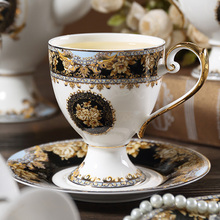 Coffee-Cup Bone China Ceramic Gold Afternoon British European Flower Teacup Retro Saucer