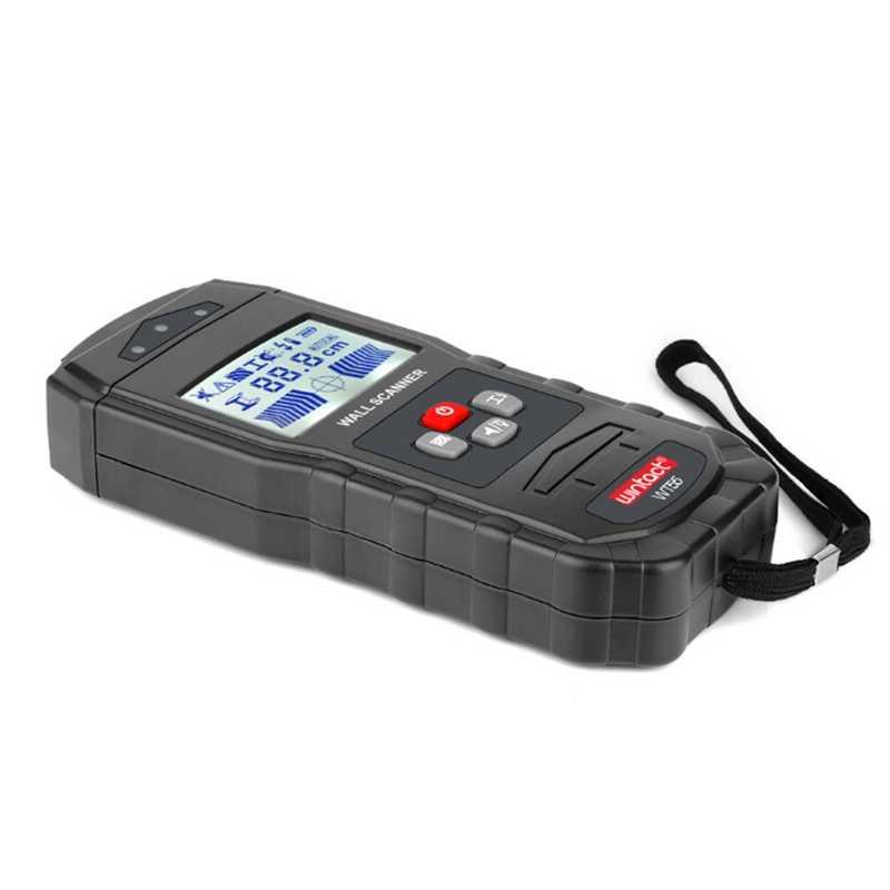 WT55 Multi-Fungsi Pencarian Detektor Logam Sensitif Balok Kayu AC Live Kawat Kabel Wall Scanner LCD Dinding Logam Finder indikator