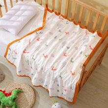 Baby Quilt Kids Muslin Swaddle Blanket Newborn Blanket Muslin Cotton 6 Layer Fabric Baby Blanket Kocyk Dla Dziecka 150x117cm(China)