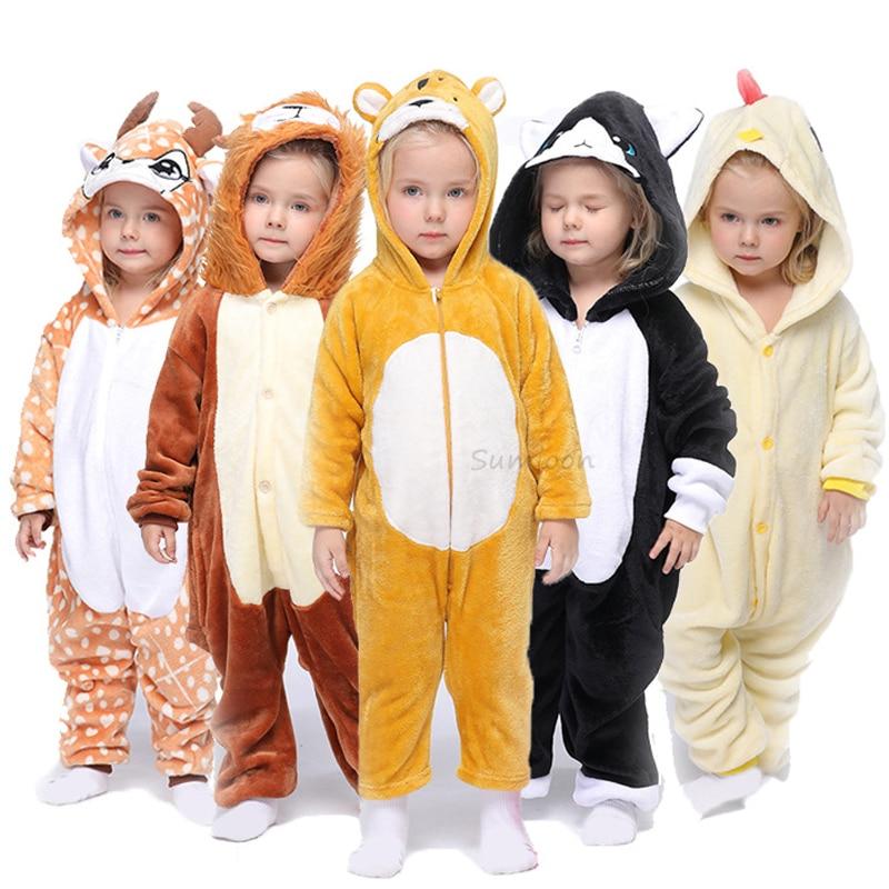 Kigurumi Onesie Kids Unicorn Pajamas For Children Animal Cartoon Blanket  Sleepers Baby Costume