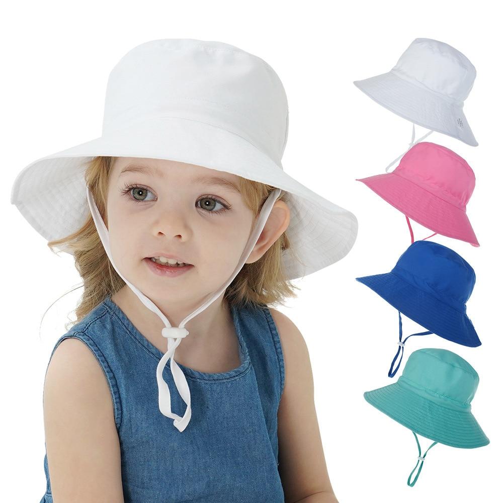 Летняя Детская Солнцезащитная шапка, Детская уличная накидка на уши с защитой от УФ-лучей, пляжная кепка для плавания для мальчиков и девоче...