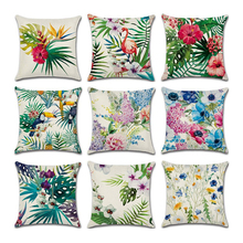 Hawaiian Tropical Party 1Pc Cushion Decorative Cover  45×45cm Throw Pillow Case Sofa Home Decorations