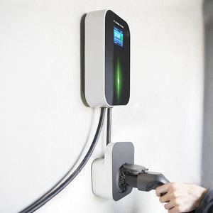 Image 4 - Elektrikli araç şarjı evreli Wallbox Wifi elektrikli araç şarj istasyonu uygulaması ile tip 2 soket 32A 1 fazlı IEC 62196 2 audi BMW için