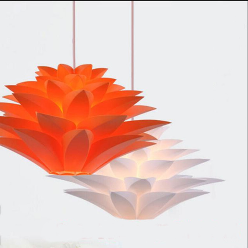 Individual Nordic Lily Colored Pvc Pendant Light American Post Modern Simple Dining Room Shop Home Lighting Deco Chambre