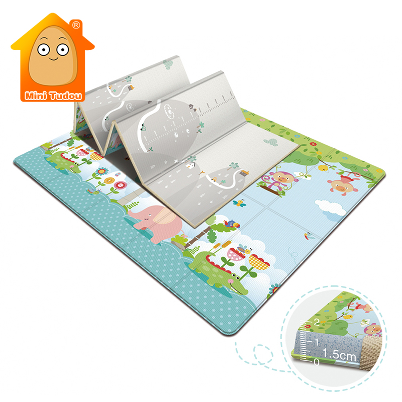 Baby Play Mat Soft Floor Playmat Foldable Crawling Carpet Game Waterproof Activity Rug Folding Blanket Educational Toys Gift