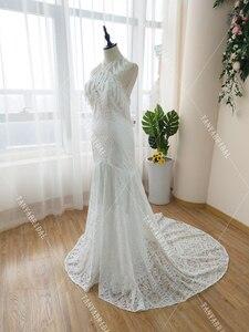 Image 5 - Marzycielski unikalne suknie ślubne Gypsy Hippie uderzające koronkowe suknie ślubne czeski Vestido De Noivas elegancka, z frędzlami ZW229