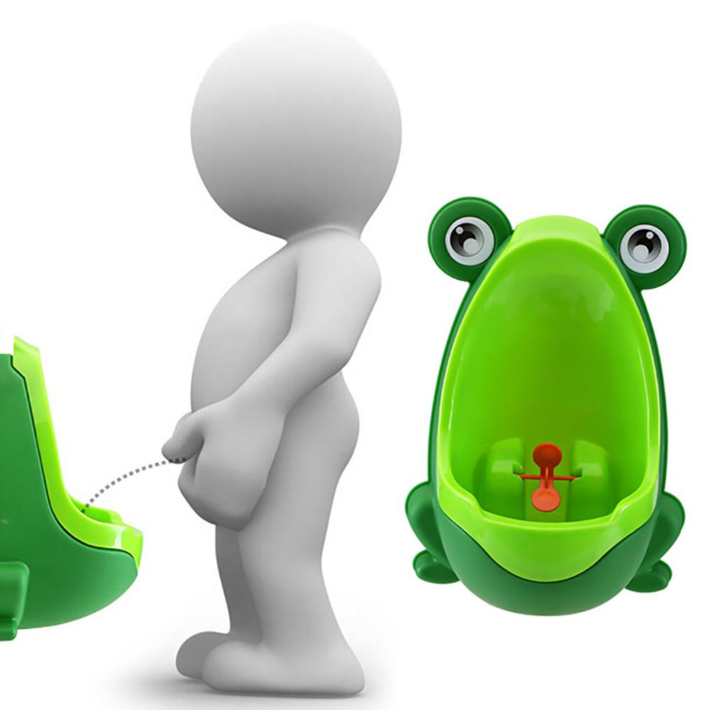 Cute Frog Shape Children Boys Potty Pee Toilet Training Urinal With Suction Cups Easy To Install Removable Frog Shape Non-toxic