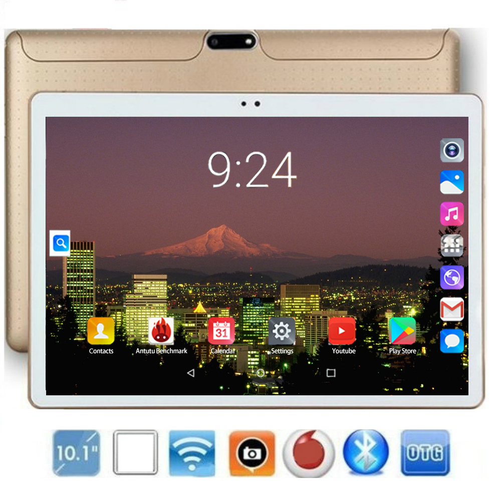 10 Inch 4G LTE Tablet Pc Octa Core Android 8.0 RAM 6GB ROM 128GB 1280*800 IPS MT8752 Dual SIM Card 4G WIFI Phone Call Tablets