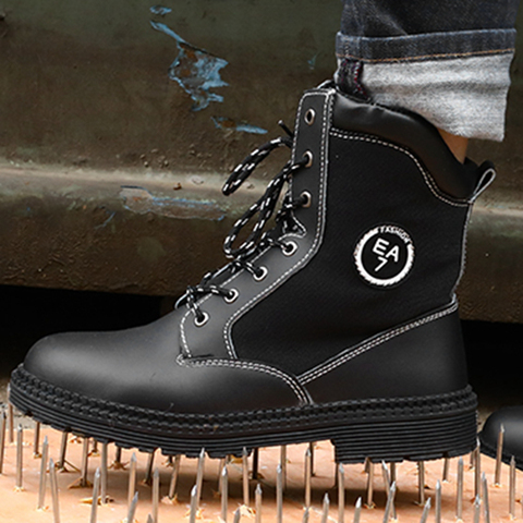 Men Work Safety Boots Steel Toe Shoes Breathable Work Safety Boot Protective Puncture Proof Work Shoes For Men Casual Sneakers Multan