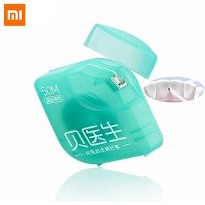 Xiomi DR.Bei Dental Floss przenośne wykałaczki zębów Stick pielęgnacja jamy ustnej xaomi 50 sztuk/pudło dla mężczyzn kobiety rodzina xiami 50 m/box
