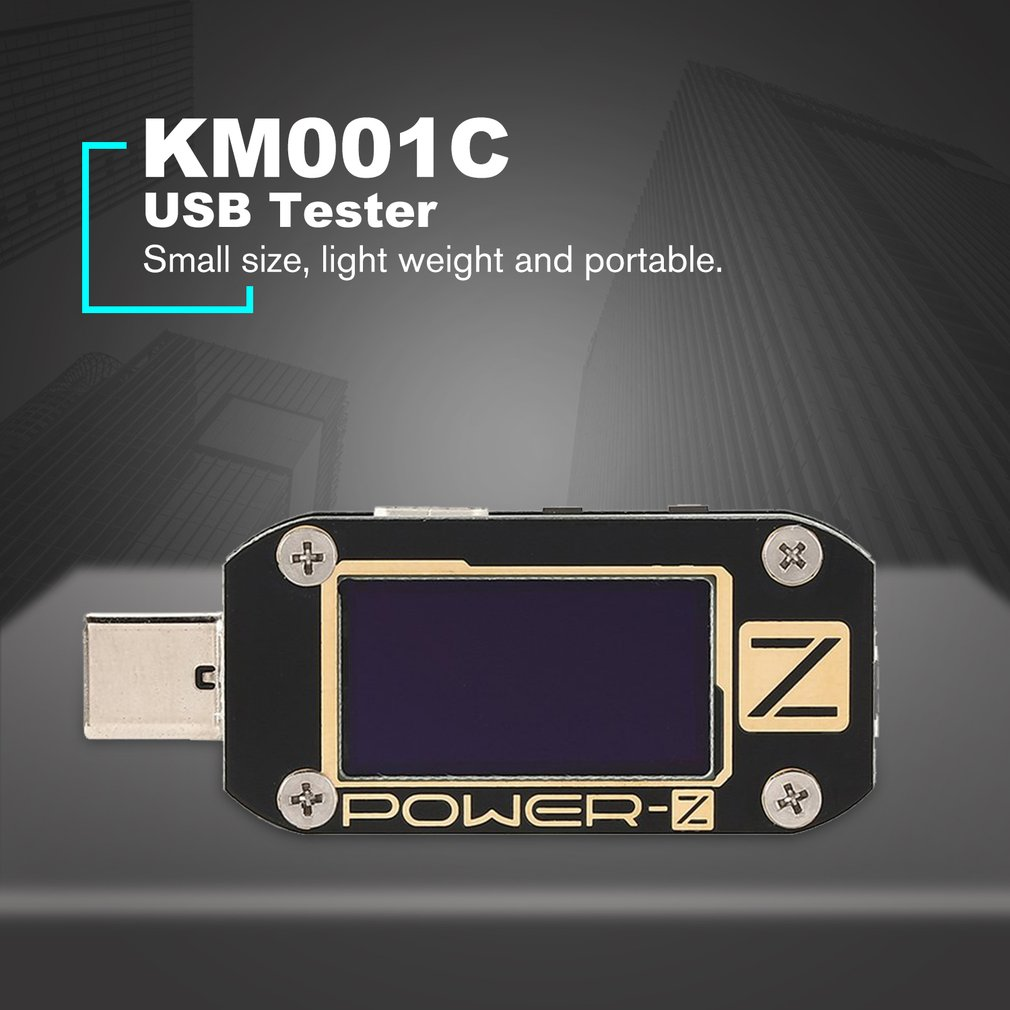 KM001C USB PD Tester Quick Charger <font><b>Voltage</b></font> Current Ripple Dual Type-C Meter Power Bank Detector <font><b>Voltage</b></font> Meters image